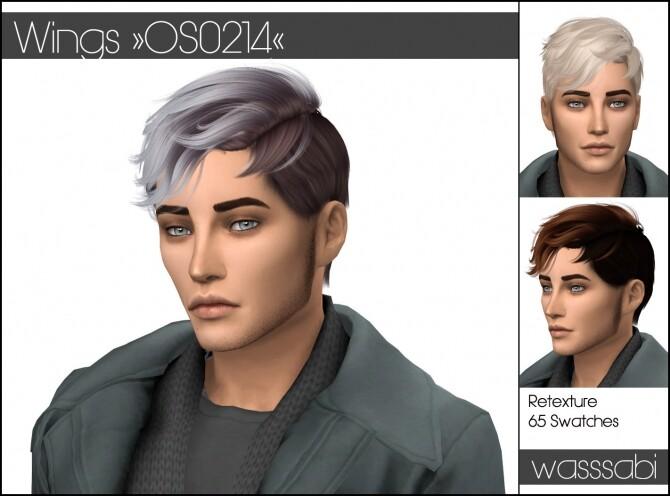 Sims 4 OS0214 Wings hair retextured at Wasssabi Sims