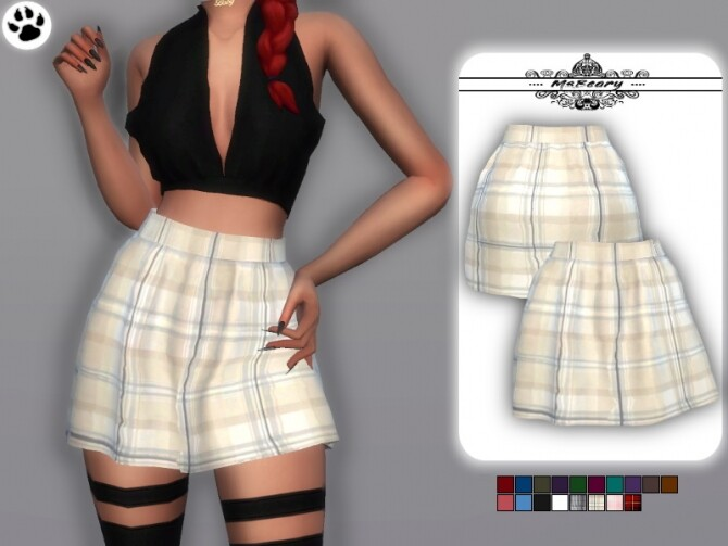 Sims 4 Highwaisted Skirt by MsBeary at TSR