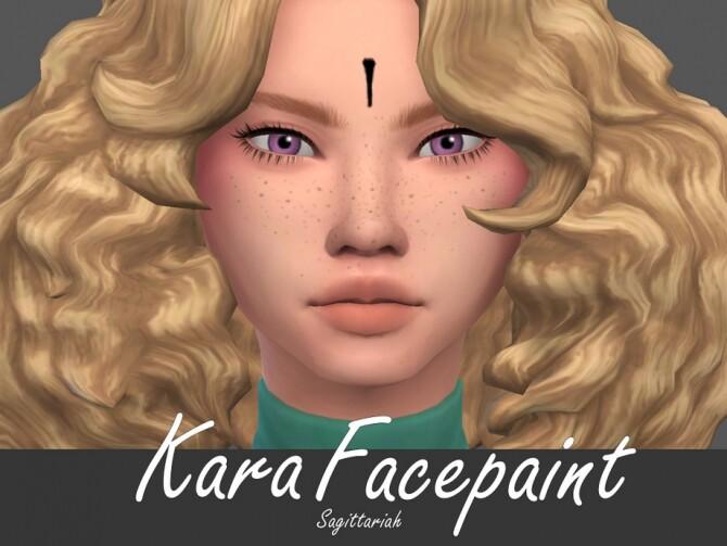 Sims 4 Kara Facepaint by Sagittariah at TSR