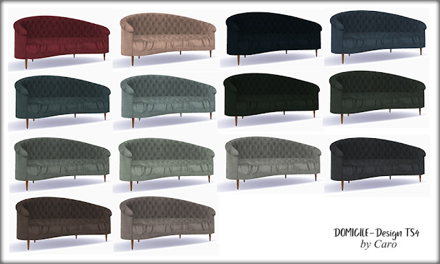 Cozy August: Sofa, fireplace, curtains, pillows at DOMICILE Design TS4 image 26111 Sims 4 Updates