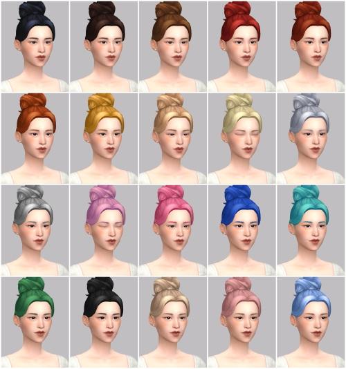 Sims 4 Sooa hair at Casteru