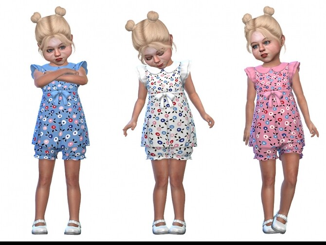 Sims 4 Two Piece Dress for Toddler Girls 02 by Little Things at TSR