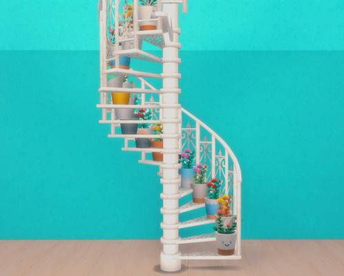 Decorative spiral staircase by pocci at Garden Breeze Sims 4 image 266 Sims 4 Updates
