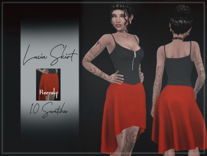 Sims 4 Lucia Skirt by Reevaly at TSR
