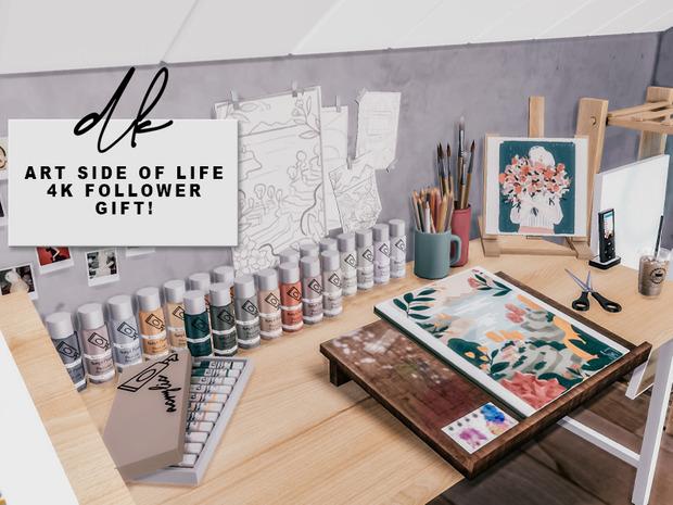 Sims 4 ART SIDE OF LIFE SET at DK SIMS