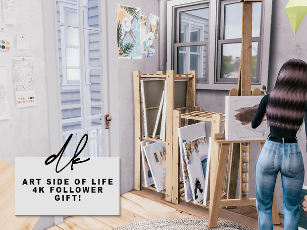 ART SIDE OF LIFE SET at DK SIMS image 2692 Sims 4 Updates