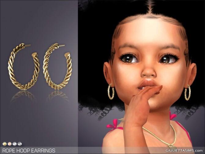 Sims 4 Rope Hoop Earrings for Toddlers at Giulietta