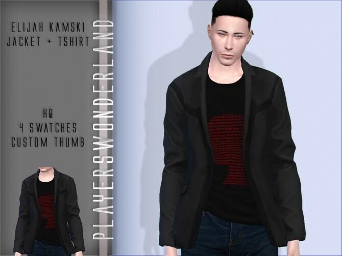 Elijah Kamski Jacket + T shirt by PlayersWonderland at TSR image 272 670x503 Sims 4 Updates