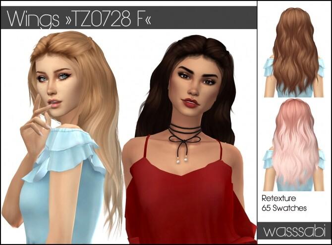 Sims 4 Wings TZ0728 F hair retexture at Wasssabi Sims