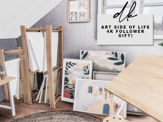 ART SIDE OF LIFE SET at DK SIMS image 2732 Sims 4 Updates