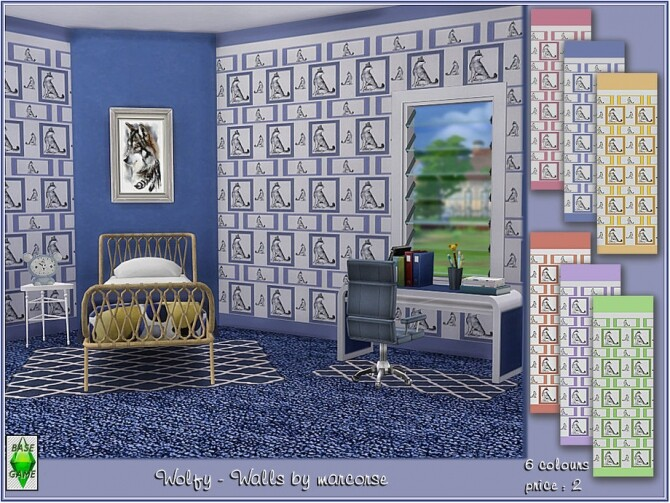 Sims 4 Wolfy Walls by marcorse at TSR
