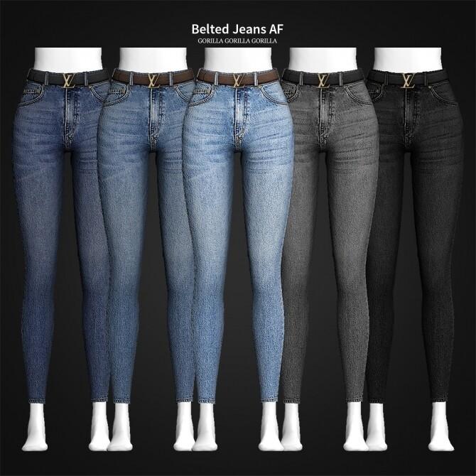 Sims 4 Belted Jeans AF at Gorilla