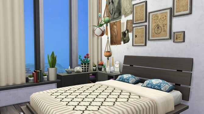 Sims 4 BOHEMIAN ROOMMATES DREAM APARTMENT at Aveline Sims