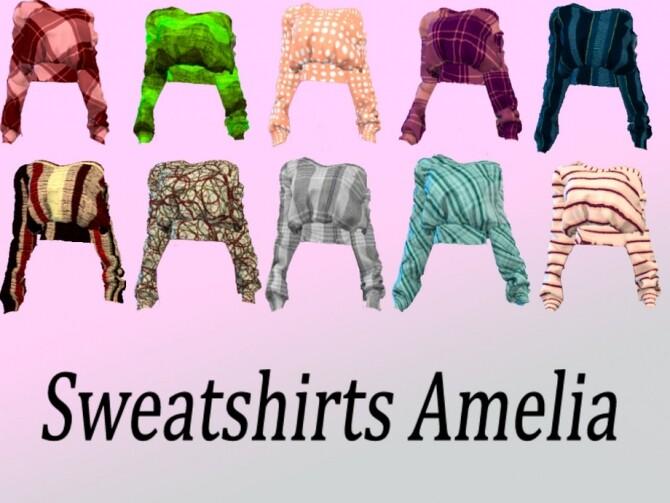 Amelia sweatshirts by DrIm57 at TSR image 277 670x503 Sims 4 Updates