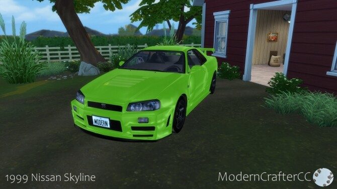 1999 Nissan Skyline at Modern Crafter CC image 2774 670x377 Sims 4 Updates