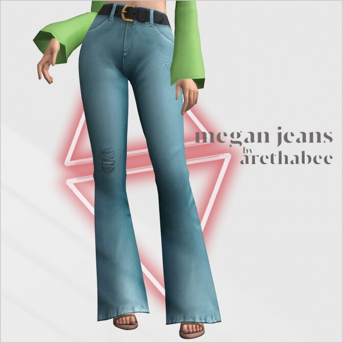 Megan tied top and jeans at Arethabee image 2801 670x670 Sims 4 Updates