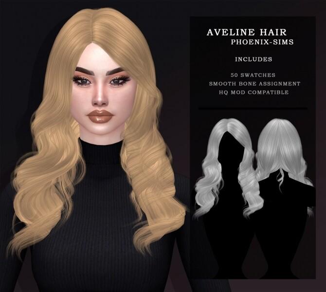 Sims 4 NESSA, CLARA & AVELINE HAIRS at Phoenix Sims