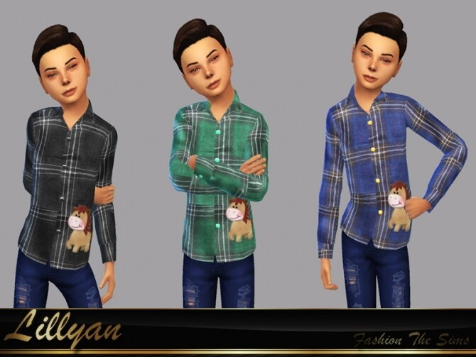 Bruno childrens shirt by LYLLYAN at TSR image 281 670x503 Sims 4 Updates