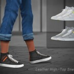 Leather High-Top Sneakers 01 by Jius