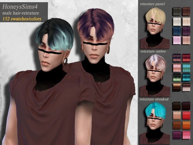 Dandelion male hair retexture by HoneysSims4 at TSR image 2813 670x503 Sims 4 Updates