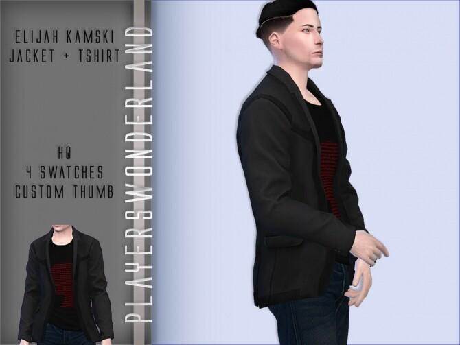 Elijah Kamski Jacket + T shirt by PlayersWonderland at TSR image 282 670x503 Sims 4 Updates