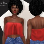 Strapless Crop Top by pizazz