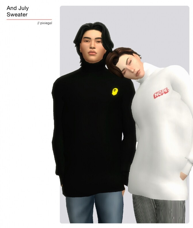 Sims 4 Cozy turtleneck sweater at Pixiegal