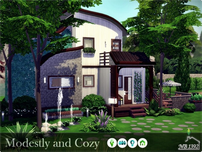 Modestly and Cozy house by nobody1392 at TSR image 285 670x503 Sims 4 Updates