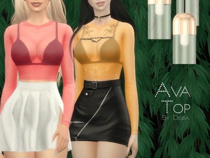 Ava Top by Dissia at TSR image 286 670x503 Sims 4 Updates