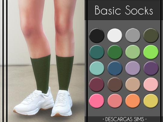 Sims 4 Basic Socks at Descargas Sims