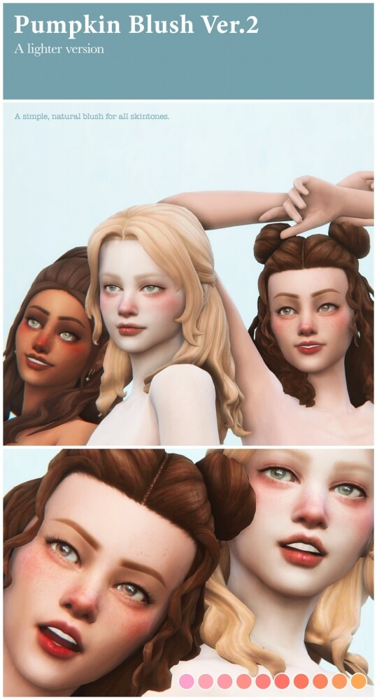 Sims 4 Pumpkin Blush V2 at Sims4Nicole