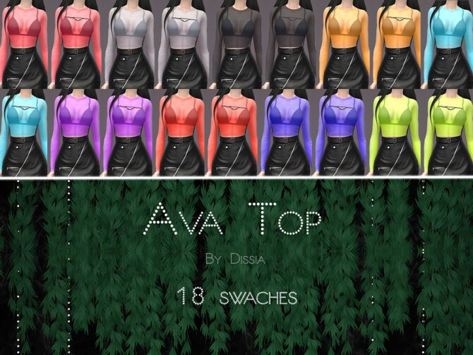 Ava Top by Dissia at TSR image 296 670x503 Sims 4 Updates