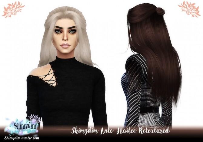 Sims 4 Anto Hailee Hair Retexture Naturals + Unnaturals at Shimydim Sims