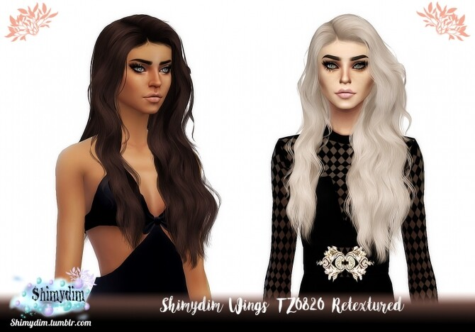 Sims 4 Wings TZ0820 Hair Retexture Naturals + Unnaturals at Shimydim Sims