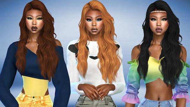 Sims 4 WINGS TZ0820 Hair Recolor at Teenageeaglerunner