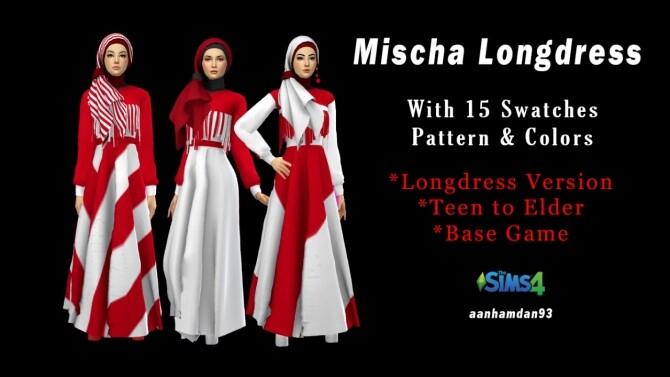 Sims 4 Hijab Model 074 & Mischa Long dress at Aan Hamdan Simmer93
