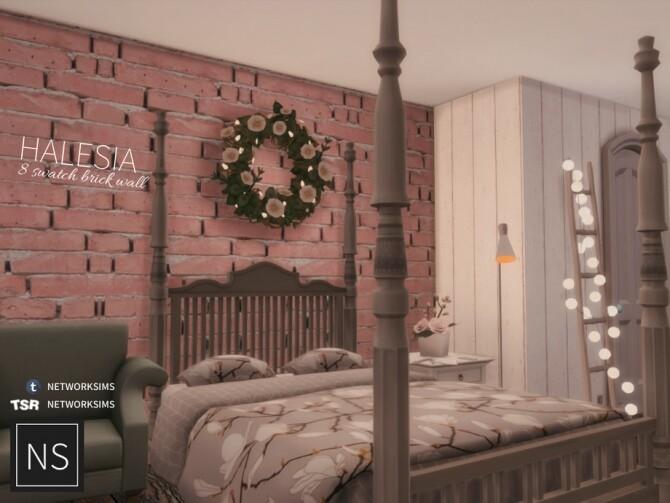 Sims 4 Halesia Brick Walls by Networksims at TSR