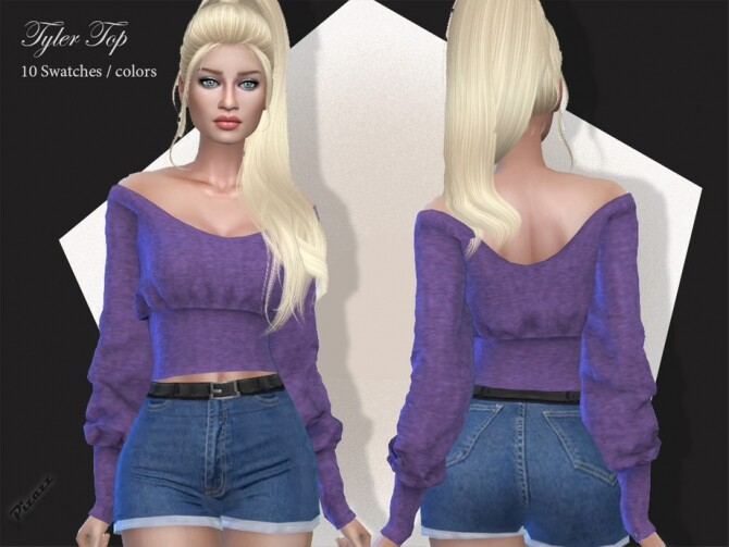 Sims 4 Tyler Top by pizazz at TSR