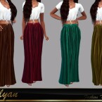 Paula long skirt by LYLLYAN