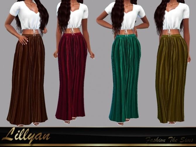 Sims 4 Paula long skirt by LYLLYAN at TSR