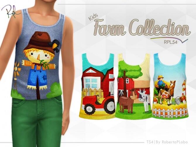 Sims 4 Kids Farm Collection RPL54 tank top by RobertaPLobo at TSR