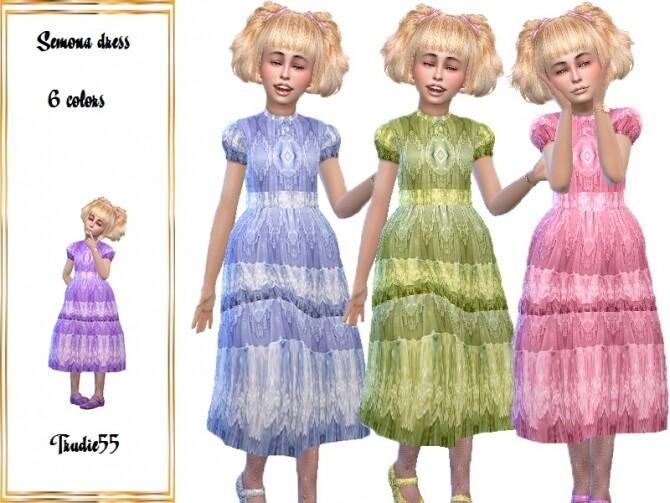 Sims 4 Semona dress by TrudieOpp at TSR