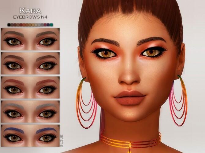 Sims 4 Kara Eyebrows by Suzue at TSR