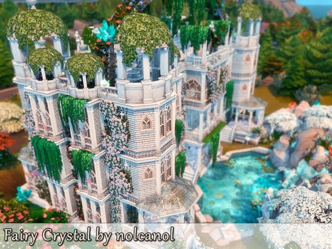 Fairy Crystal Castle by nolcanol at TSR image 327 670x503 Sims 4 Updates