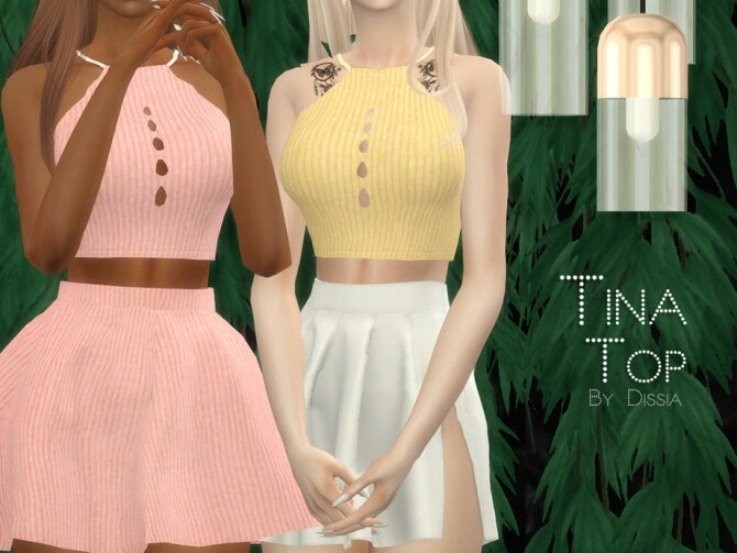Sims 4 Tina Top by Dissia at TSR