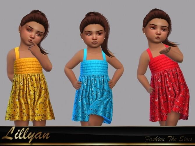 Dress Paloma by LYLLYAN at TSR image 332 670x503 Sims 4 Updates