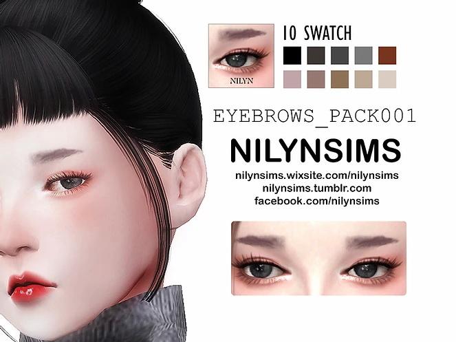 Sims 4 EYEBROWS PACK 001 at Nilyn Sims 4