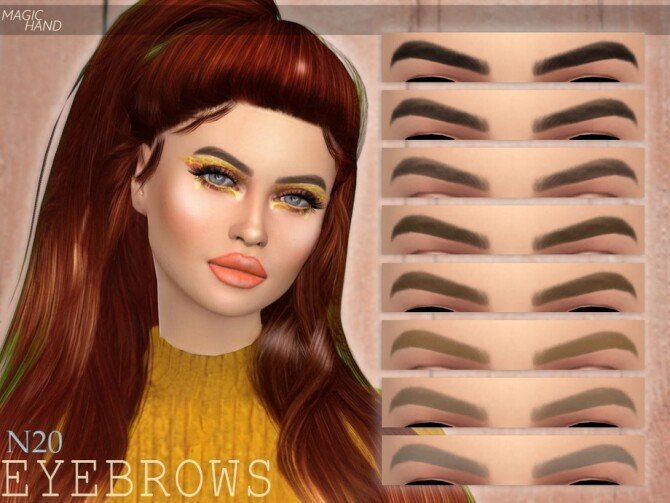 Eyebrows N20 by MagicHand at TSR image 342 670x503 Sims 4 Updates