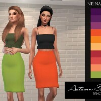 Autumn Solids Pencil Skirt by neinahpets