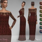 Dress Cilia 1 by Jaru Sims